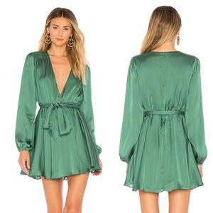 Lovers + Friends Green Ivy Long Sleeve Mini Dress